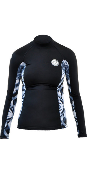 Rip Curl Womens All Over Long Sleeve Rash Vest TITANIUM WLE8KW