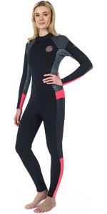 Rip Curl Womens Dawn Patrol 5/3mm Back Zip Wetsuit NEON PINK WSM7EW