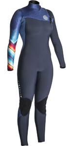 2018 Rip Curl Womens G-Bomb 4/3mm GBS Zip Free Wetsuit DENIM BLUE WSM7IG