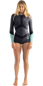 Rip Curl Womens Madi 1mm Manga Comprida Boyleg Shorty Wetsuit Azul WSP6DW