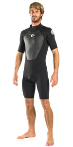Rip Curl Omega 1.5mm Back Zip Spring Shorty Wetsuit BLACK WSP6CM
