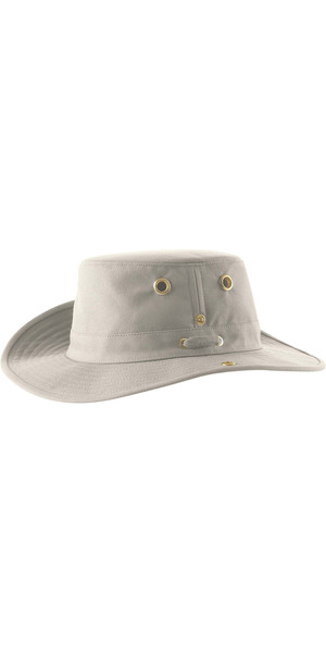 2019 Tilley T3 Snap-Up Brimmed Hat - NATURLIG / GRØN