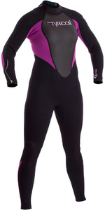 2019 Typhoon Junior Girls Storm 3 / 2mm Wetsuit Black / Iris 250942