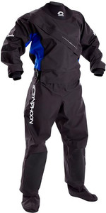 2019 Typhoon Womens Ezeedon 3 Front Zip Drysuit INCLUDING UNDERFLEECE BLACK / Blue 100159