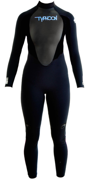 2018 Typhoon Ladies Storm 5/4 / 3mm GBS Wetsuit Logotipo negro / azul 250691
