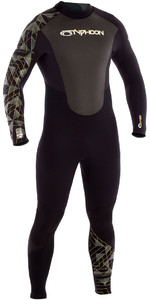 2019 Typhoon Storm 3/2mm GBS Wetsuit Black / Gold 250772