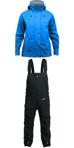 2019 Zhik Kiama Womens Inshore Sailing Jacket & Trouser Combi Set Cyan / Black