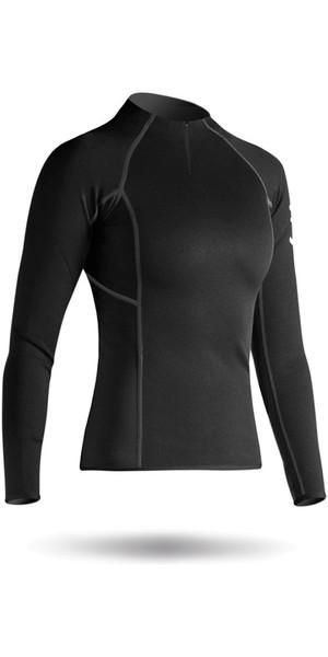 2019 Zhik Womens Hydrophobic Fleece Top Quarter Zip BLACK Top410ZW