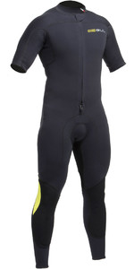 2020 Gul Code Zero 3/2mm FZ Short Arm Wetsuit BLACK CZ2301-B2