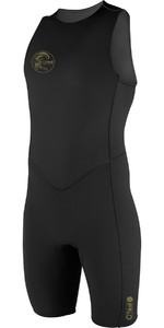 2021 O'Neill O'Riginal 2mm Back Zip Short John Wetsuit BLACK 4529