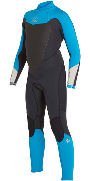 2018 Billabong Junior Absolute Comp 4 / 3mm Zip posteriore Muta NERE SABBIE F44B14
