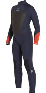 Billabong Junior Absolut Comp 4 / 3mm Tillbaka Zip Wetsuit SLATE F44B14