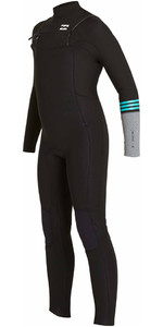 Billabong Junior Revolution Tri-Bong 3 / 2mm Chest Zip GBS Traje de baño NEGRO F43B12