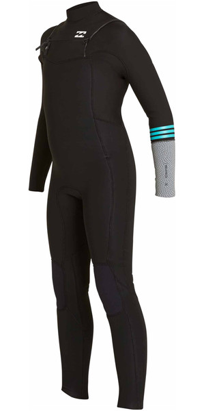 2018 Billabong Junior Revolution Tri-Bong 3/2mm Chest Zip GBS Wetsuit BLACK F43B12