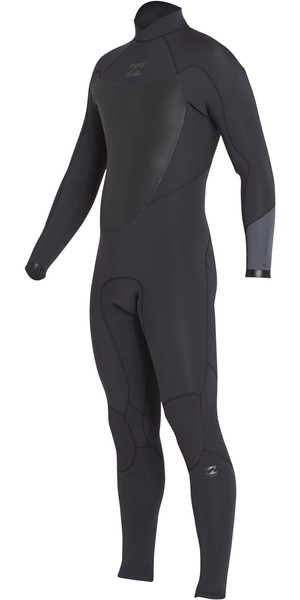 2018 Billabong Absolute 3/2mm Back Zip Flatlock Wetsuit BLACK SANDS H43M15