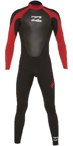 2019 Billabong Junior Intruder 3/2mm Gbs Combinaison Back Zip Rouge 043b15