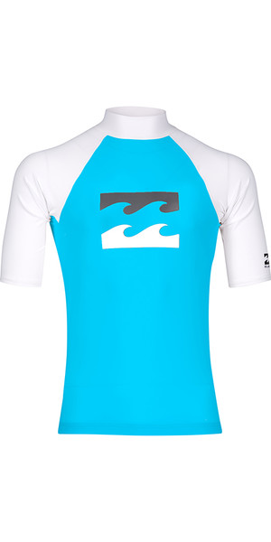 2018 Billabong Junior Team Wave Kurzarm Rash Weste OCEAN H4KY03