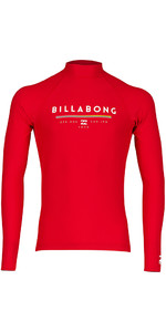 2018 Billabong Junior Unity Long Sleeve Rash Vest Rød H4KY02