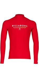 2018 Billabong Junior Einheit Langarm Rash Weste RED H4KY02