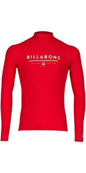 2018 Billabong Junior Einheit Langarm Rash Weste RED H4KY02