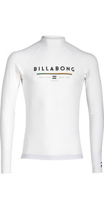 Billabong Junior Unity manga comprida Rash Vest BRANCO H4KY02