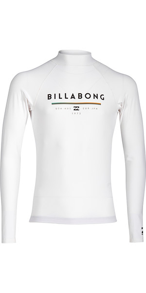 2018 Billabong Junior Einheit Langarm Rash Vest WHITE H4KY02