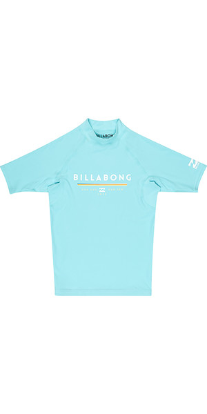 2018 Billabong Junior Einheit Kurzarm Rash Weste MINT H4KY01