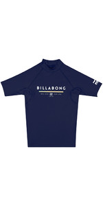 Billabong Junior Unit Manga Curta Colete Prurido Navy H4ky01
