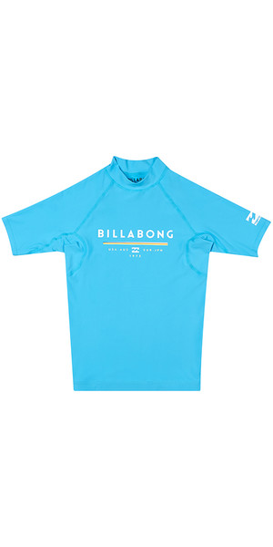 2018 Billabong Junior Einheit Kurzarm Rash Weste OCEAN H4KY01