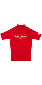 Billabong Junior Einheit Kurzarm Rash Weste Rot H4ky01