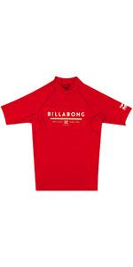 Billabong Junior Unité Manches Courtes éruption Gilet Rouge H4ky01