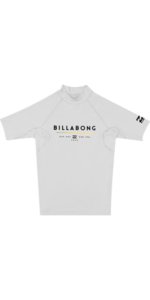 2018 Billabong Junior Unity Kurzarm-Rash Vest WHITE H4KY01