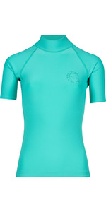 Billabong Womens Logo Colore manica corta Rash Vest POOL BLUE H4GY07