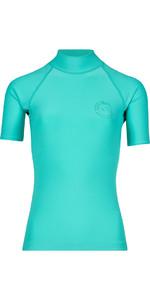 2018 Billabong Womens Logo Farbe Kurzarm Rash Weste POOL BLUE H4GY07