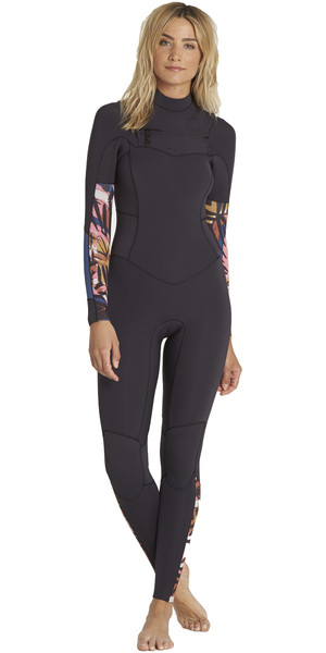 2018 Billabong Womens Salty Daze 4/3mm Chest Zip Wetsuit TRIBAL H44G10