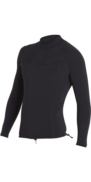 2018 Billabong Proairlite 1mm Langarm Neopren Top SCHWARZ HEATHER H41M01