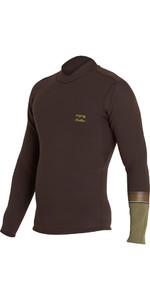 Billabong Revo DBAH 2mm Long Sleeve Neoprene Jacket DARK BROWN H42M02