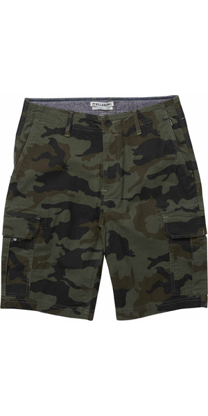 2018 Billabong Scheme Cargo Shorts MILITARY CAMO H1WK22