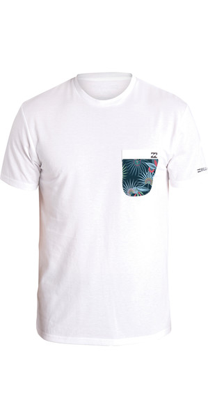2018 Billabong Team Pocket Kurzarm Loose Fit Surf T-Shirt WHITE H4EQ01