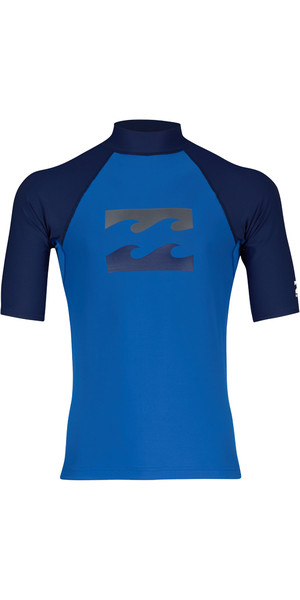 2018 Billabong Team Wave Short Sleve Chaleco de riego PETROL BLUE H4MY03