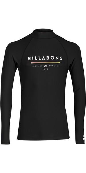 2018 Billabong Unity Long Sleeve Rash Vest NERO H4MY02