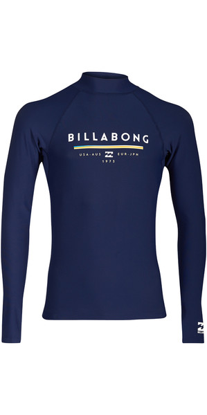 2018 Billabong Einheit Long Sleeve Rash Weste NAVY H4MY02