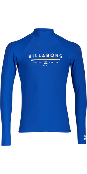 2018 Billabong Einheit Long Sleeve Rash Weste Nacht H4MY02