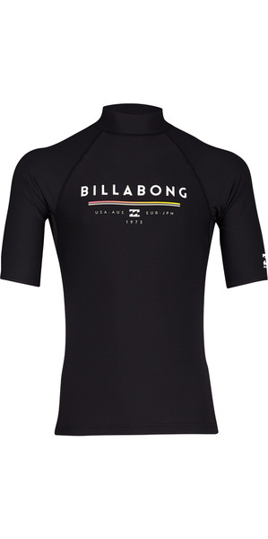 2018 Billabong Unity Rash Sleeve Rash Chaleco NEGRO H4MY01