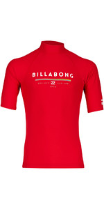 Billabong Unity Short Sleeve Rash Vest RED H4MY01