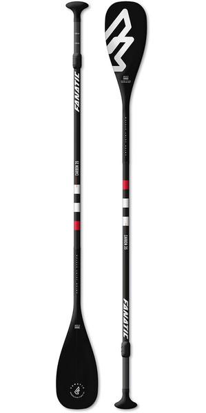 2018 Fanatic Carbon 35 Regolabile SUP Paddle 165-220cm Nero