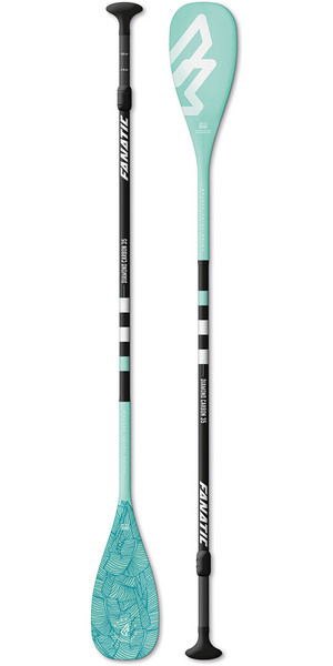 2018 Fanatic Diamond Carbon 35 3-Piece Adjustable SUP Paddle 165-220cm Diamond Blue
