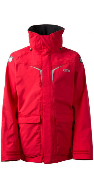 2019 Gill OS3 Mens Coastal Jacket BRIGHT RED OS31J