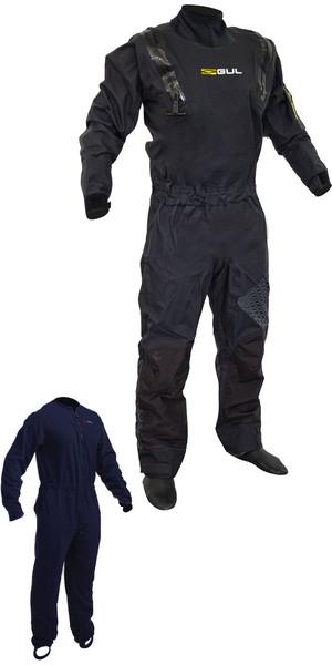 2018 Gul Code Zero Stretch U-Zip Drysuit + Pee Zip Black GM0368-B5 INCLUYENDO UNDERFLEECE