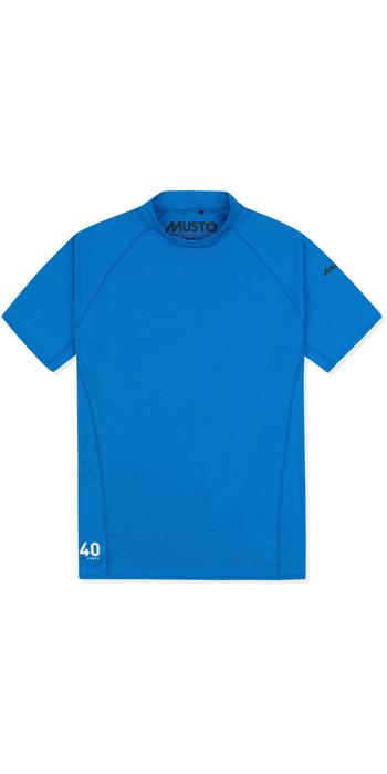 2021 Musto Insignia Dos Homens Uv Fast Dry Camiseta De Manga Curta Azul Brilhante 80900